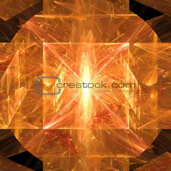 Abstract elegance background. Orange - yellow palette.