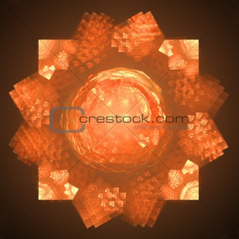 Abstract elegance background. Black - orange palette.