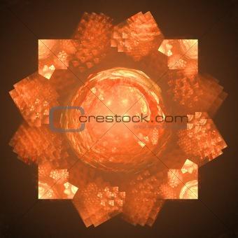 Abstract elegance background. Black - orange palette.