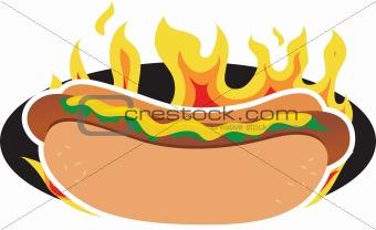 Flaming Hot Dog
