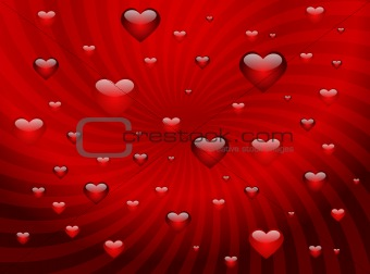 Background with hearts for valentine day