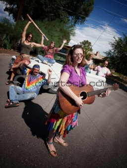 Groovy group with female Singer