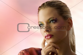 beauty blond portrait