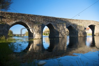 ancient roman bridge at barco village