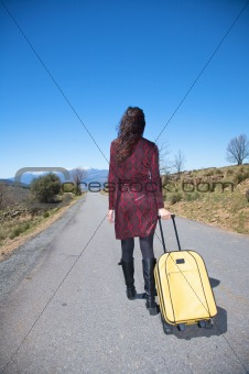 back woman traveller