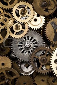 Old clock machine