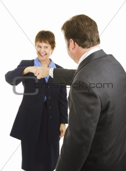 Business People Fist Bump