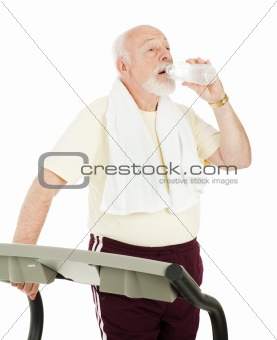 Fit Senior Drinks Water