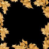 Golden Holly Leaf Frame