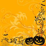 Floral Halloween background