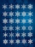 30 unique snowflakes in all / 6 different sets