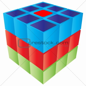 3d cube game shape