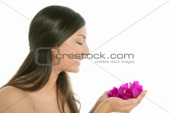 Beautiful indian and bougainvillea flowers