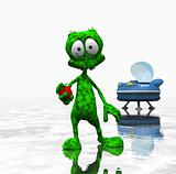 cartoon alien character