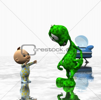 cartoon alien character
