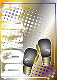box golden poster background 2