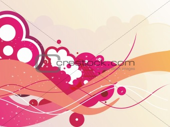 background with creative artwork illustration