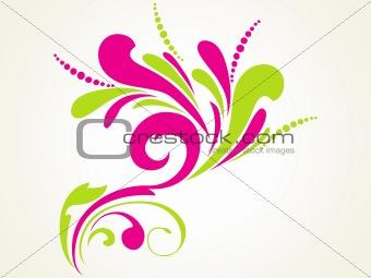 green natural pattern floral