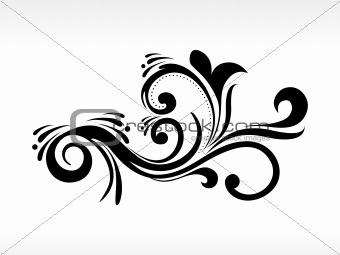 isolated black filigree pattern illustration