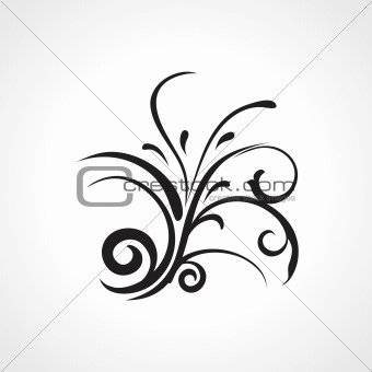 background with black floral pattern