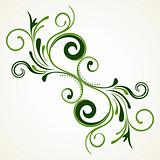 isolated green flourish pattern