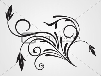 background with isolated black tattoo