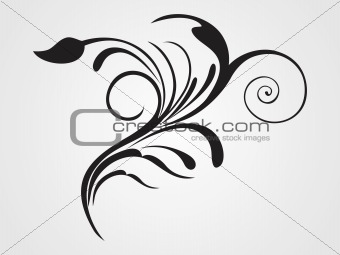 black floral pattern with background