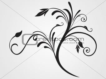 black creative filigree pattern tattoo