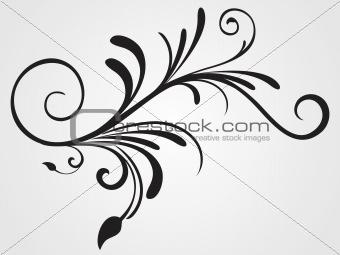 background with flourish design tattoo