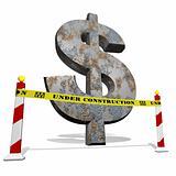 Dollar under construction
