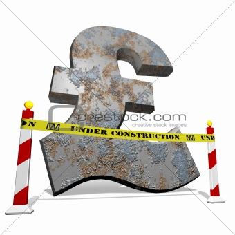 Pound under construction