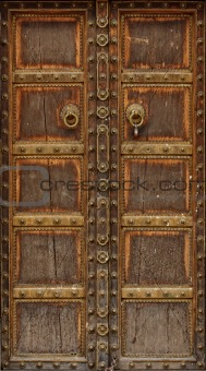 ancient wood door