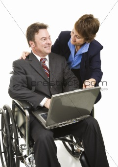 Disabled Businessman and Associate