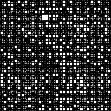 black and white block pattern