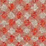 red and white mosaic pattern