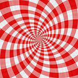 red tartan cloth swirl