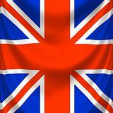 draped square english flag