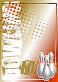 bowling golden poster background