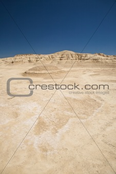 desert and blue sky