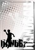 Handball Golden Poster Background 3