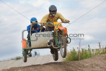 Moto cross racing