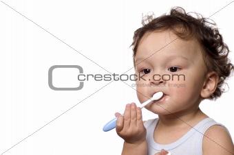 Clean teeth.