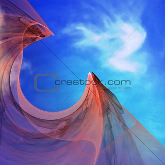 Abstract elegance background. Blue - orange palette.