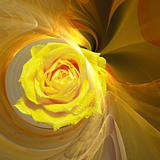 Abstract elegance background. Yellow - orange palette.