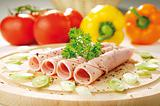 Fresh ham with vegetables