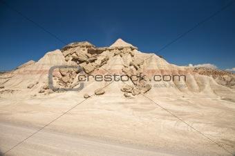 broken desert mountain