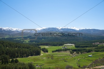 great valley at gredos mountains