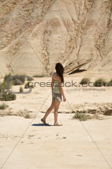 hiking the desert