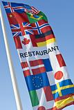 Generic Multi National Restaurant Flag