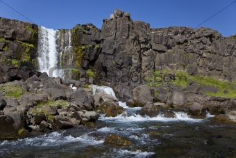 Waterfall and Mountain Stream